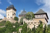 Photo view of the castle karlstejn czech republic built by holy roman emperor charles iv in the 14th century