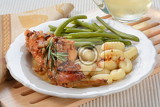 rabbit with garlic, rosemary and white wine
