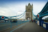 Tower Bridge. Bridge, people and the river Thames. London - England.