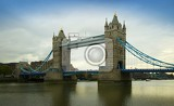 Tower Bridge. City, bridge, river Thames and right. London - England.