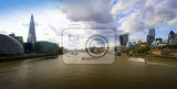 Photo City. Bridge,modern architecture and the River Thames. London - England.