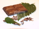 Fotografie Chocolate on white background.