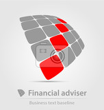 Fényképek financial adviser business icon for creative design tasks