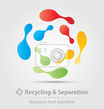 Fényképek recycling and separation business icon for creative design