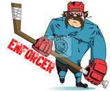 Hockey player enforcer