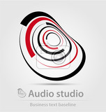 Fotografie audio studio business icon for creative design tasks