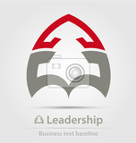 Fotografia leadership business icon for creative design