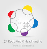 Fotografie recruiting and headhunting business icon for creative design