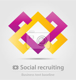 Fotografia social recruiting business icon for creative design