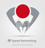 speed networking business icon for creative design