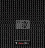 Fotografia delicate carbon fibre vector background for creative design tasks