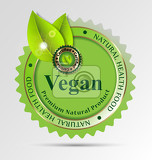 creative label for veganrelated foodsdrinks for design taks