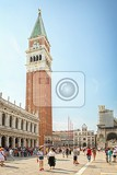 Photo venice italy  jul 5 2014 st mark square in veniceit is the principal public square of venice italy where it is generally known just as the piazza with background bell tower