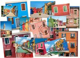 a collage of photos from the island of burano venice europe