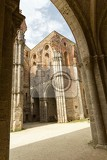 cistercian convent built in the 12thcentury 30 km southwest of the city of siena tuscany italy
