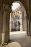 the internal layout of the abbey of san galgano tuscany italy