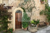 Fotografie front door of a beautiful and old villa in tuscany