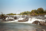 Fotografia famous popa falls in caprivi north namibia with long exposure