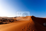 Photo landscape of dunes in sossusvlei with wind shapes the sand dunes namibia sunrise scene