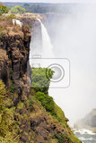 the victoria falls is the largest curtain of water in the world 1708 meters wide the falls and the surrounding area is the national parks and world heritage site  zambia zimbabwe