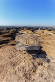 panorama of fantrastic namibia moonscape erongo region  on the way to swakopmud