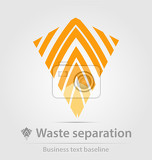 Fényképek waste separation business iconfor creative design