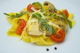 Fotografie Food. Pappardelle, vegetables, pasta, color, vitamins and health.