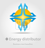 energy distributor business icon for creative design work
