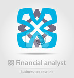 Fényképek financial analyst business icon for creative design tasks