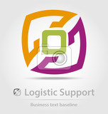 logistic support business icon for creative design work