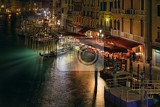 Fotografie venice italy  february 27 2014 view from the famous rialto bridge on evening city of venicein 2014 the venetian carnival was held between 15 february and 4 marchfor only editorial