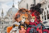 venice italy  february 27 2014 unidentified person with venetian carnival mask in venice italy on february 2014 in 2014 was the venetian carnival held between 15 february and 4 march