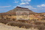 panorama of fantrastic namibia landscape hardap region with blue sky