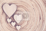 valentines wooden heart on wooden background  valentines day  day valentine postcard with space for text