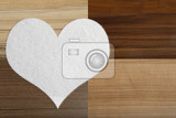 Fotografie valentines snow hearts on a wooden background  valentines day  day valentine postcard with space for text