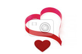 Fotografie valentines paper hearts on a white background  valentines day  day valentine postcard with space for text