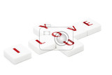 Fotografia valentine concept scrabble letters spelling i love you isolated on white