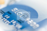 close up stacking credit cards  selective focus by very shallow focus