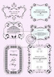 collection of vector frames and ornaments with sample text