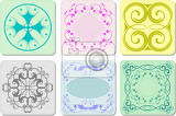 Fényképek six decorative finishing ceramic tiles vector illustration
