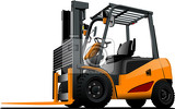 Fotografie lift truck forklift vector illustration