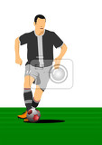 soccer player poster vector illustration