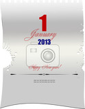 blank letter with  date of january 1 vector illustration