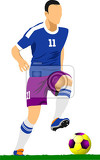 Fotografie soccer player footballvvector illustration