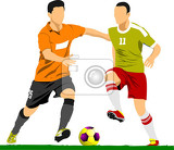 Photo soccer player poster vector illustration