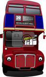 london double decker  red bus vector illustration