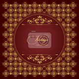gold ornament on brown background can be used as invitation card eps 10 vector illustration