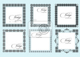 collection of ornate vintage vector frames with sample text perfect as invitation or announcement