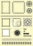 set of abstract design elements vector illustration