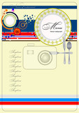 Fotografie french restaurant cafe menu vector illustration